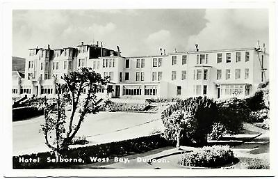 Vintage Real Photo Postcard . Hotel Selborne . West Bay . Dunoon . Scotland