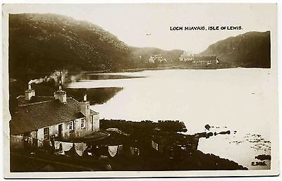 Early Real Photo Postcard . Loch Miavaig . Isle Of Lewis . Scotland