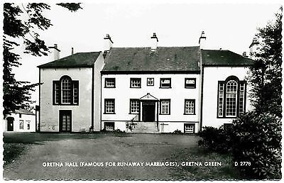 VINTAGE REAL PHOTO POSTCARD . GRETNA HALL . GRETNA GREEN . SCOTLAND . c1957