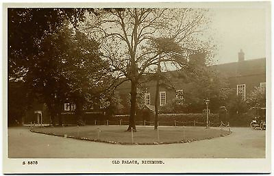 Early Real Photo Postcard . Old Palace . Richmond . Surrey