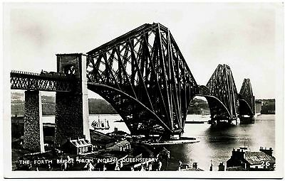 Early Real Photo Postcard . Forth Bridge . North Queensferry . Scotland