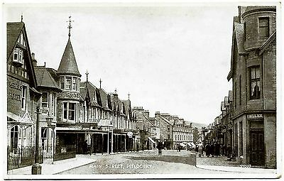 EARLY POSTCARD . MAIN STREET . PITLOCHRY . SCOTLAND . c1925