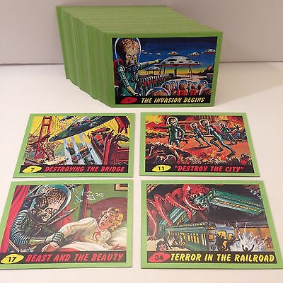 MARS ATTACKS! HERITAGE (Topps/2012) Complete GREEN BORDER Trading Card Set of 55