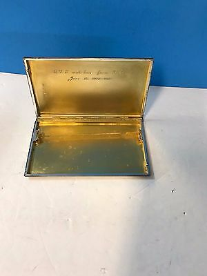 Art Deco Mappin & Webb  Sterling Silver Card Cigarette Case Antique