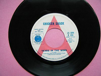 "CHICKEN SHACK Stan Webb 7"" PROMO  Tears In The Wind / Things You Put Me Through"