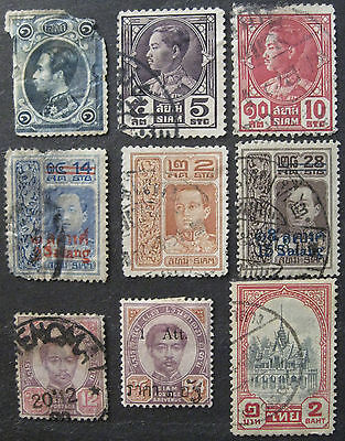 THAILAND lot of old stamps used interesting