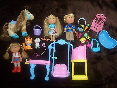 Cabbage Patch Kids CPK Lil' sprouts day care spa dog cats horse accessories  EUC