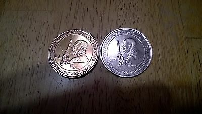 Pete Fountain 1981 and 1989 Mardi Gras Golden Doubloons