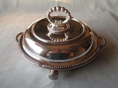 Great Vintage Sheffield Silver Plate Warming / Serving Dish