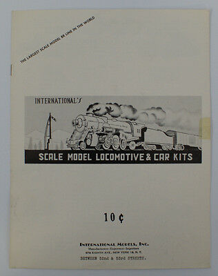 Vintage 1950's INTERNATIONAL MODELS Toy Trains & Accessories Catalog Booklet