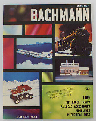 Vintage 1969 BACHMANN N Gauge Trains and Toys Catalog Booklet