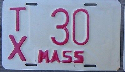 MASSACHUSETTS  VINTAGE 1970s style  Motorcycle Cycle License plate  TX 30  ^^