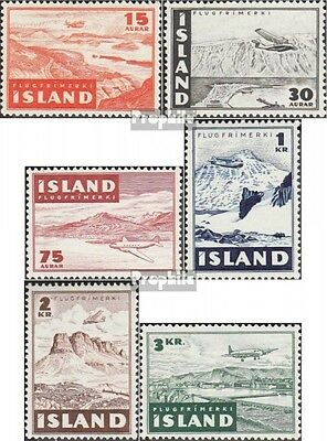 Iceland 241-246 mint never hinged mnh 1947 Aircraft about Landscapes