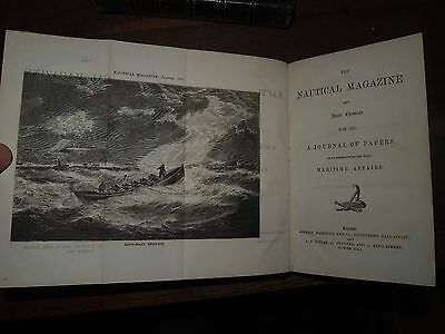 1861 The Nautical Magazine & Naval Chronicle A Journal Of Maritime Papers Maps
