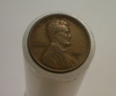 1917 D  Lincoln Cent Roll  / 50  1917 D Cents