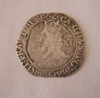 1625-49 Hammered CHARLES I Great Britain Shilling Coin
