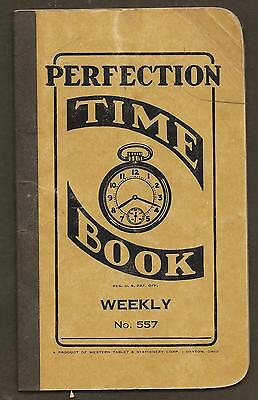 Perfection Weekly Time Book - Vintage Booklet