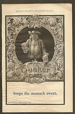 Vintage (1899) Quaker Oats Ad From Munsey's Magazine