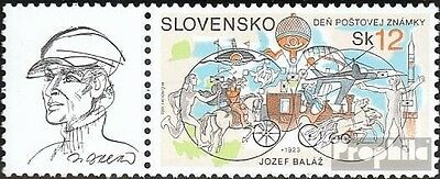 Slovakia 475 with zierfeld mint never hinged mnh 2003 Day the Stamp