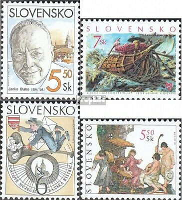 Slovakia 386,404,408,413 mint never hinged mnh 2001 special stamps