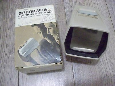 Vintage GAF Pana View-Master Lighted 2 x2 Slide Viewer with Box