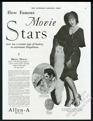 1928 Billie Dove photo Allen-A hosiery stockings vintage print ad