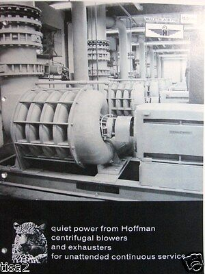 HOFFMAN Centrifugal Blowers Exhauster Systems Catalog 1975 ASBESTOS Products Use