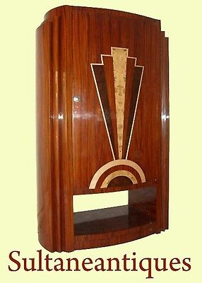 Classic Art Deco style rosewood marquetry Bar-cabinet