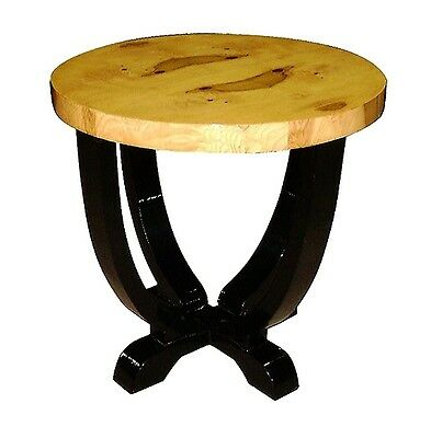 ART DECO style Elm wood SIDE OCCASIONAL TABLE