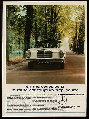 1969 Mercedes-Benz sedan car color photo vintage French print ad 2