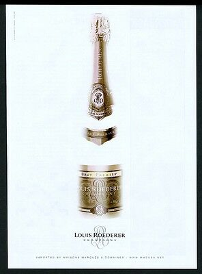 2003 Louis Roederer Brut Premier champagne bottle photo vintage print ad