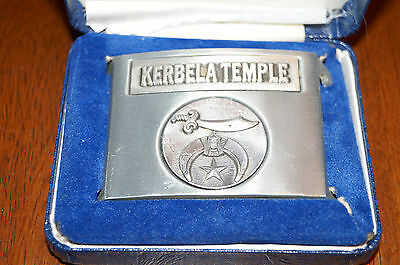 1977 Kerbela Temple Shriner Masonic Belt Buckle Broken