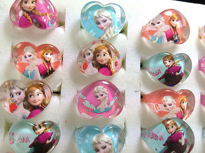 100 X kids party frozen  anna elsa resin  Rings children' Jewelry lots wholesale