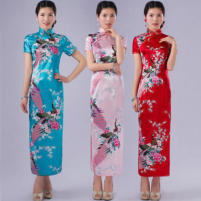 Hot Charming Chinese women's dress long Cheongsam evening dress Qipao size S-XXL