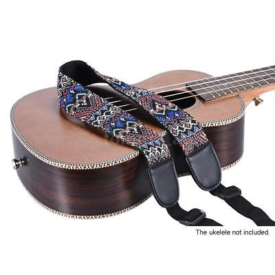 Adjustable Ukelele Strap Neck Sling Soft Cotton Durable Ethnic Pattern T7H7