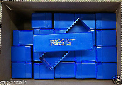 20 PCGS  nice BLUE BOXES--NO COINS  NO TAPE or LABELS