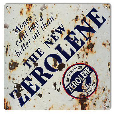 Reproduction The New Zerolene Motor Oil Sign 12X12
