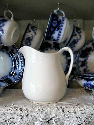 Small Antique White Ironstone Pitcher Elpco China