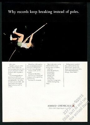 1968 pole vault vaulter photo Amoco Chemicals vintage print ad