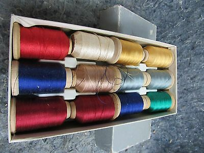 FULL BOX Gudebrod Mixed Colors Silk Thread Rod Winding Size A Large spools