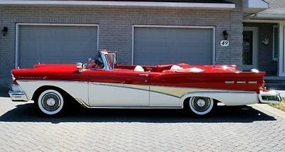 1958 Ford Fairlane  1958 Red Restored Stunning Convertible Show Car Collector Quality