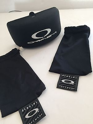 Oakley Sunglass Case Hard and 2 Soft Pouches