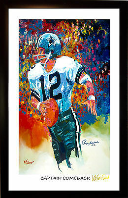 70% Sale Roger Staubach Fine-Art (Not Digital) Print Signed By Painter Winford