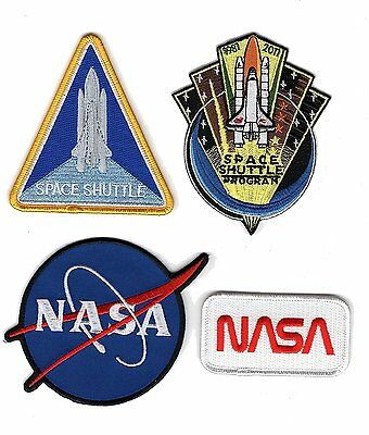 NASA SPACE SHUTTLE EMBROIDERED Set of 4 IRON ON SEW ON PATCH