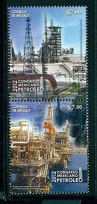 Mexico Scott #2792a MNH Mexican Petroleum Congress Oil Rigs 2012 $$