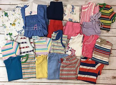 Huge 22pc Vintage Girls Childrens Clothing Lot Shirts Shorts 70s/80s // Most 4-6