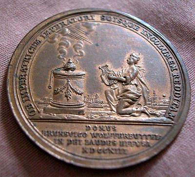 Germany - One Side Metal Medal -Plaque From Brunswick-Wolffenbuttel - 1713