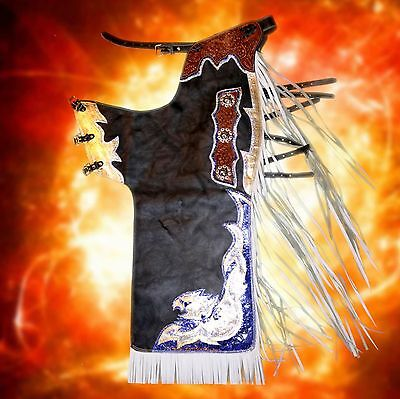 Bronc/Bull-Riding Pro Rodeo Show Batwing Chaps PBR PRCA Western Rodeo Queen Show
