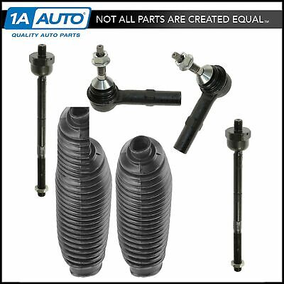 6pc 2 Inner /& 2 Outer Tie Rod Ends w//Boots for 2005 2006 2007 Nissan Murano