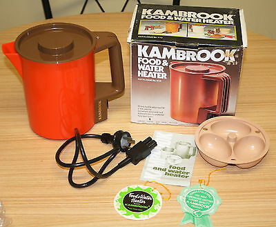 Retro Kambrook Food & Water Heater - Orange & Brown